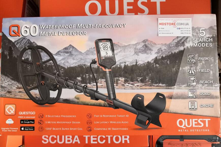 Обзор металлоискатель Quest Q60, фото, комплектация