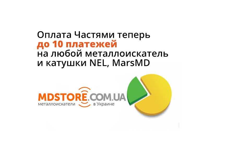 Оплата частями 10 платежей без переплат в магазине MD Store