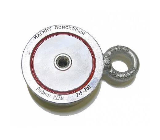 Поисковый магнит Редмаг 2F200 (двухсторонний)