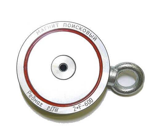Поисковый магнит Редмаг 2F600 (двухсторонний)